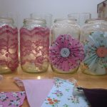lace and pinwheel luminaries