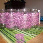 mason jar lace luminaries, complete