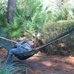 Within 10 minutes of arriving, we came across these hammocks and immediately put them to use.