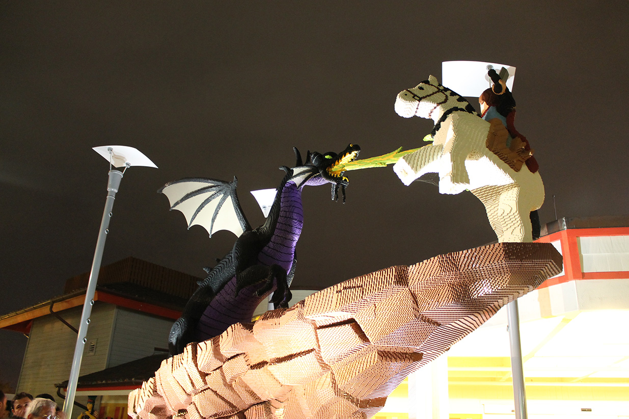 Awesome LEGO sculpture of Maleficent and Prince Philip