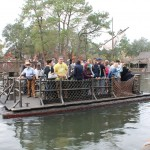 The raft used to transport to and from Tom Sawyer Island
