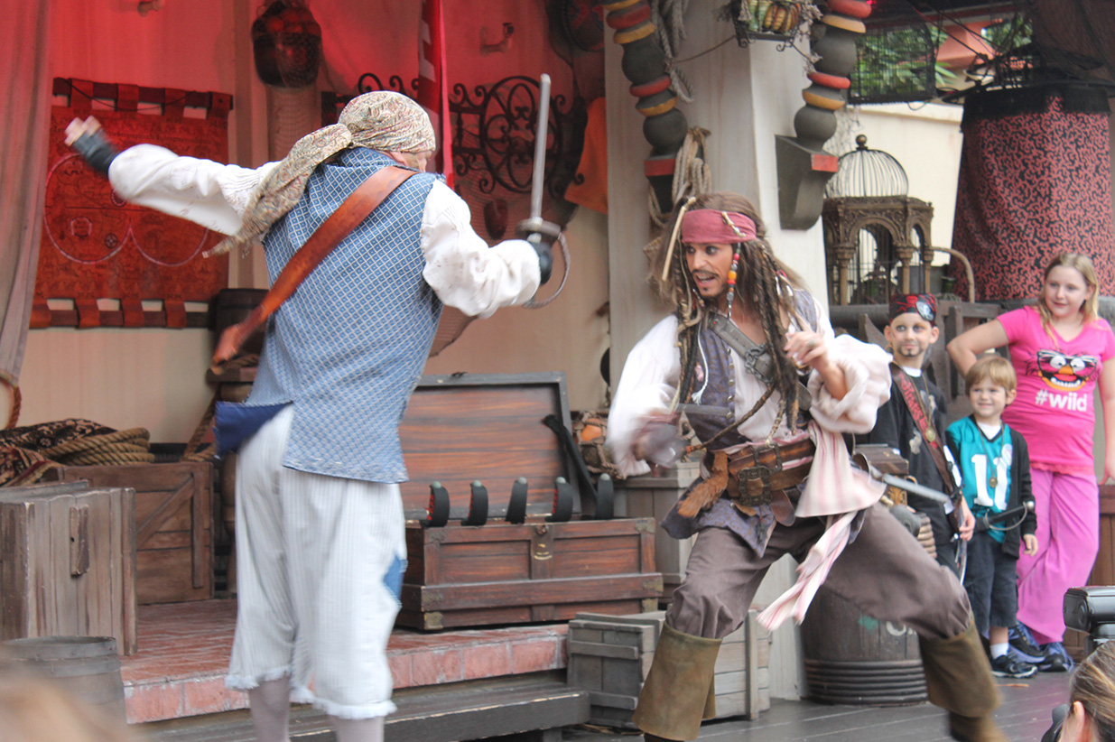 Captain Jack Sparrow demonstrates