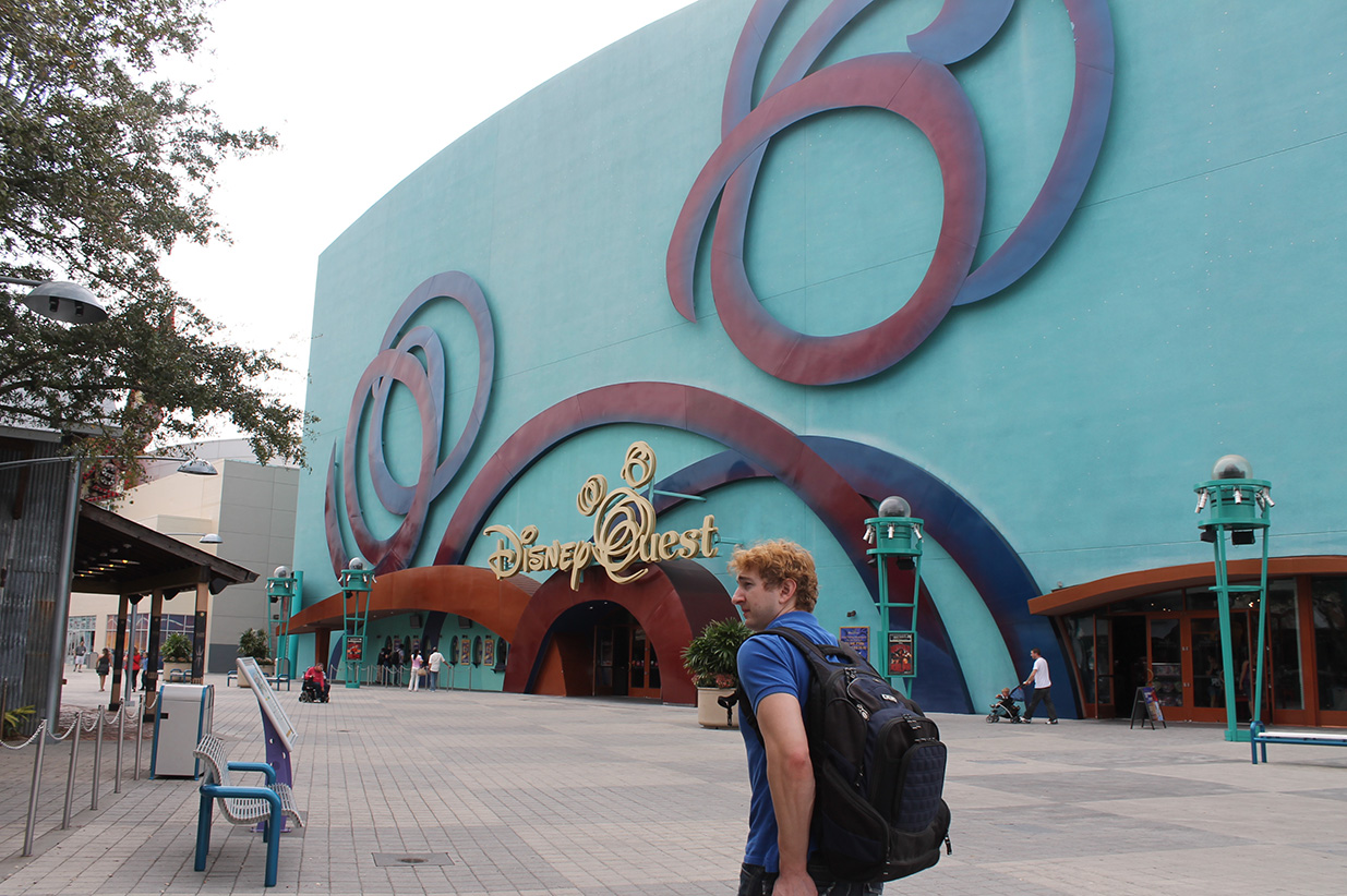 Our first DisneyQuest!