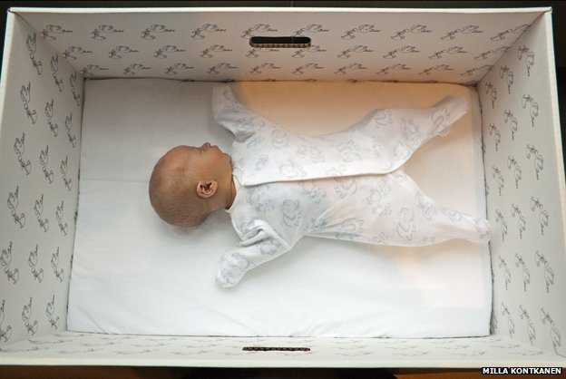 For 75 years, Finland's expectant mothers have been given a box by the state. It's like a starter kit of clothes, sheets and toys that can even be used as a bed. And some say it helped Finland achieve one of the world's lowest infant mortality rates.